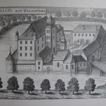 """001 Schloss Traun (Vischer Stich - 1674) """"Topographia Austriae"""""""