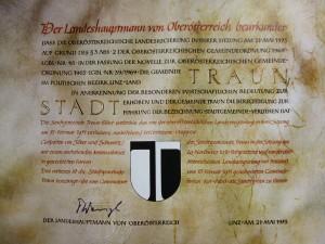 002 Urkunde Stadterhebung 21.05.1973