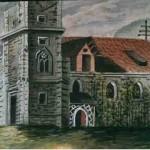 003 Kirche von St. Dionysen Aquarell von Josef Löw