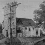 004 Kirche St. Dionysen - Ruine - gezeichnet nach dem Original von Josef Löw