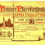 006 Kirchenumbau - Lotterielos (1889)