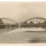 008 Bogenbrücke - im Hintergrund die alte Holzbrücke