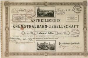 Anteilschein Kremstalbahn