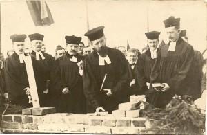 B 1913 03 25 Grundsteinlegung ev Kirche, Pf. Fischer